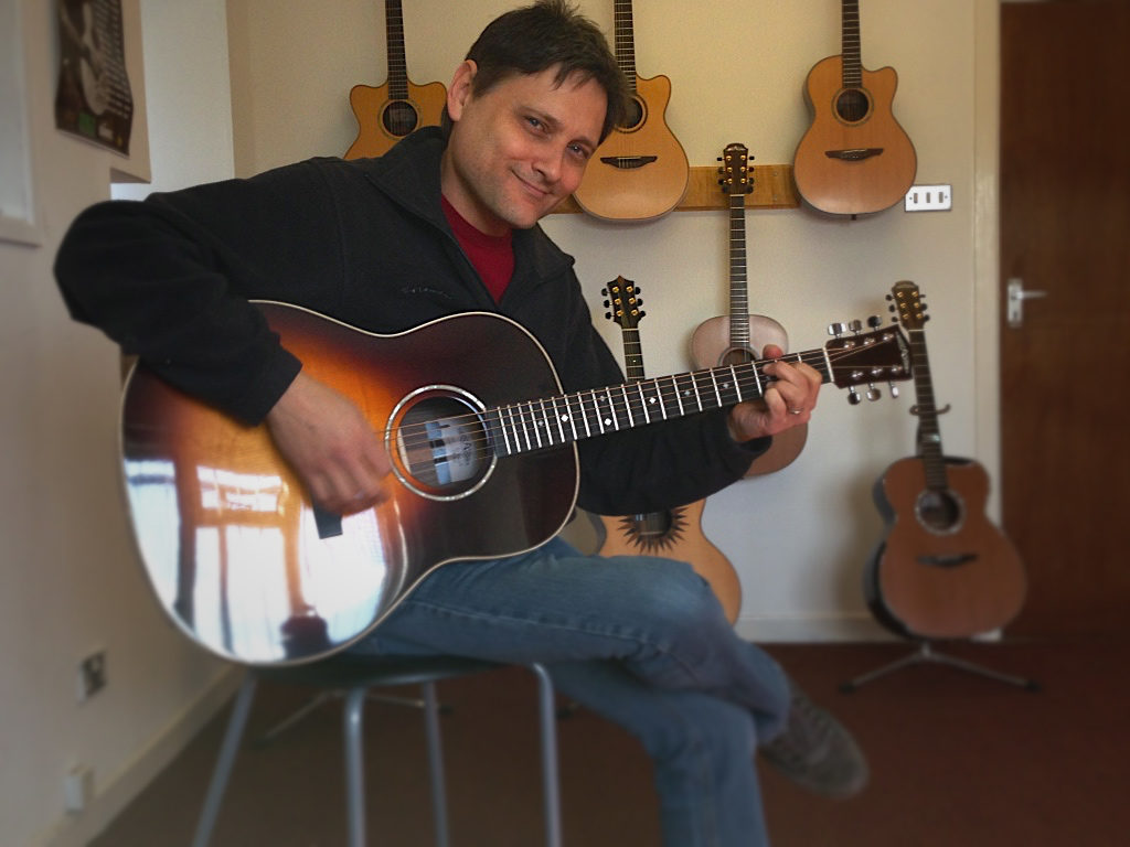 At the Avalon Guitar factory in Belfast, Northern Ireland